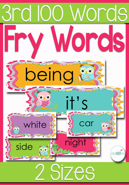 Fry Words for Word Wall 3rd 100 Words