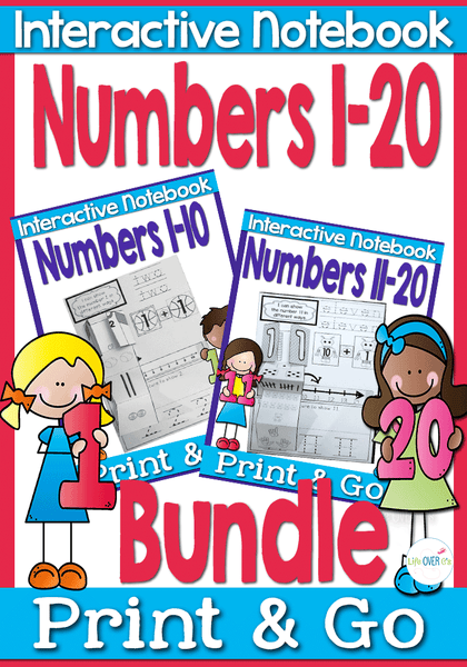 Mini-Interactive Notebooks for 1-20