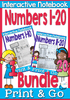 Interactive Math Notebooks for Numbers 1-10 & 11-20