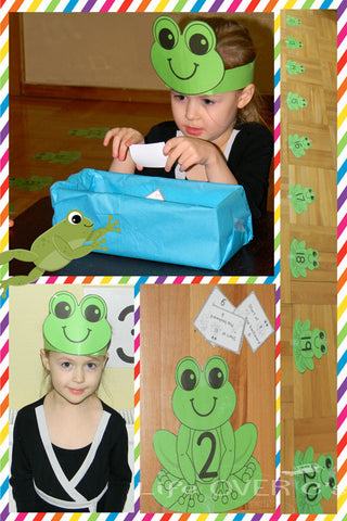 Frog Number Lines: Adding and Subtracting within 20
