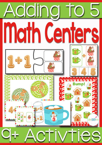 Math Centers Addition to 5: Christmas