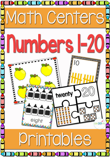 Counting to 20 Math Centers