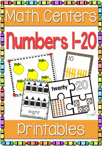 Numbers 1-20 Math Centers