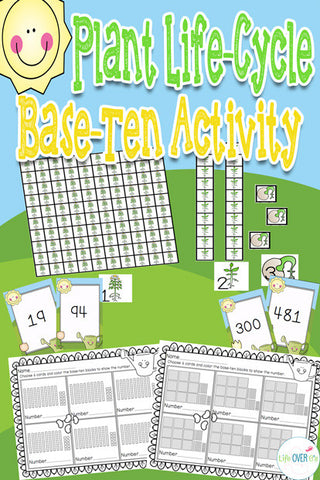 Base Ten Manipulatives Plant Life Cycle