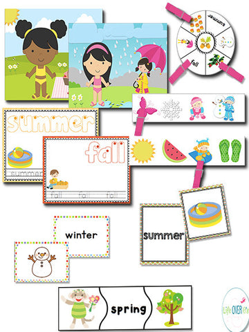 Four Seasons Math & Literacy Pack