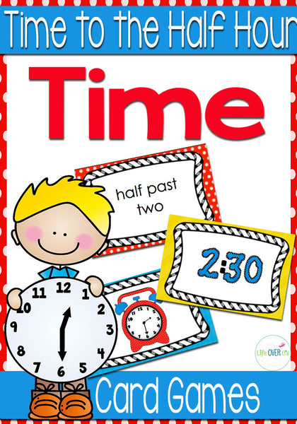 5 Time Card Games for Time to the Half Hour (Level 2)