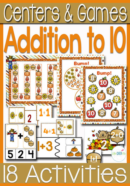 Math Centers for Addition to 10