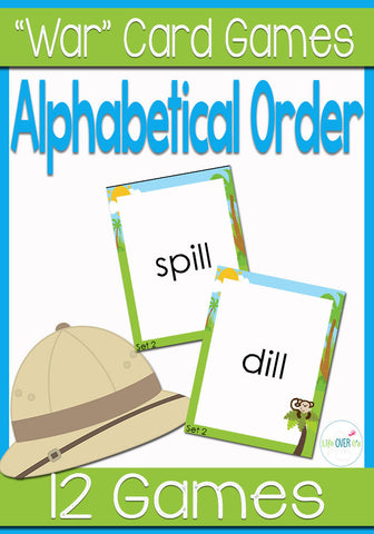 Alphabetical Order War Card Game