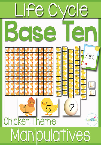 Base-Ten Manipulatives Chicken Life Cycle