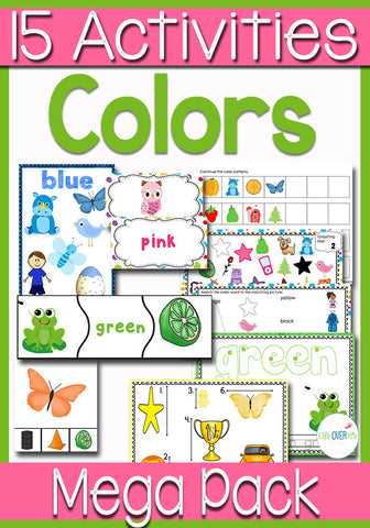 Color Recognition Math & Literacy Mega Pack