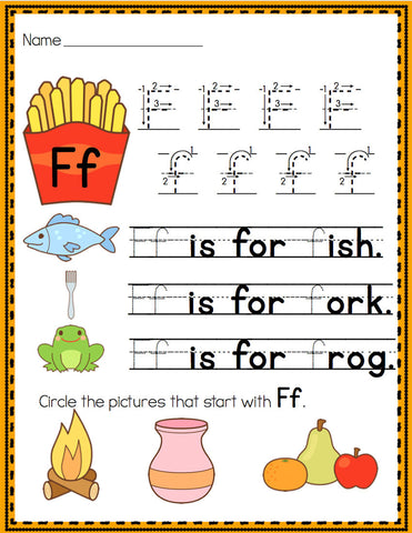 Alphabet Handwriting Printables & Centers