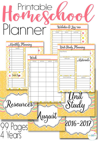 Homeschool Planner Cream Colors