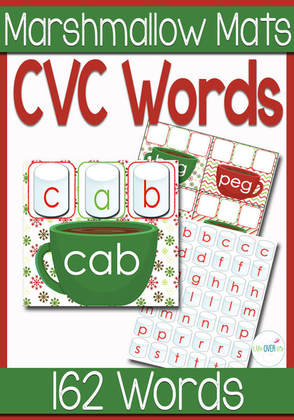 Marshmallow CVC Word Mats