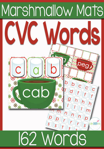 Marshmallow CVC Word Family Mats