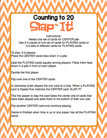 10 Card Games for Numbers to 20