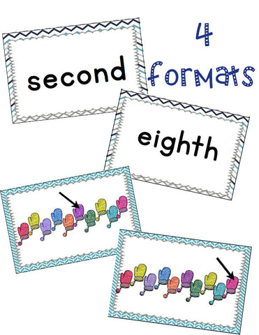 Ordinal Numbers Card Game January
