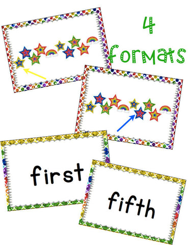 Ordinal Numbers Card Game March