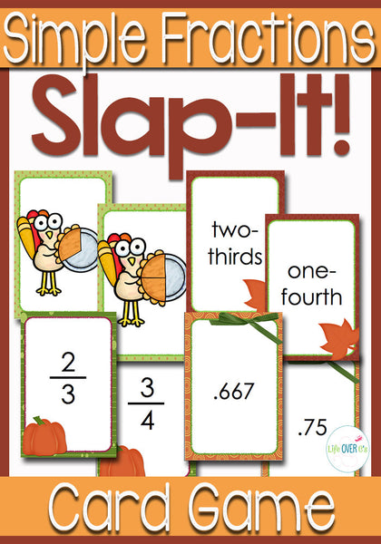 Simple Fractions Card Game