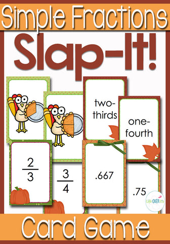 Simple Fractions Slap It! Card Game