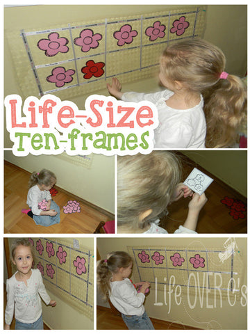 Ten-Frame and Number Bonds Life-Size Activity: Flowers