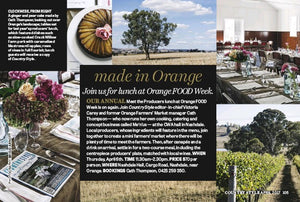 Orange F.O.O.D Week - join us for the festivities