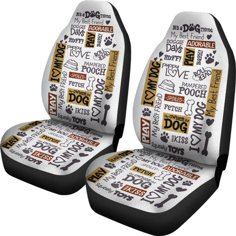 Dog Quotes Car Seat Covers - FREE SHIPPING
