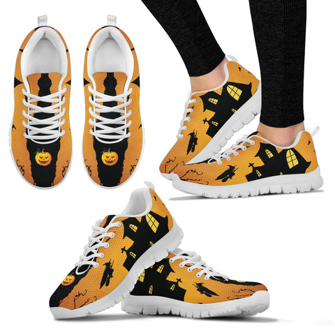 Women's Halloween Haunted House Sneakers