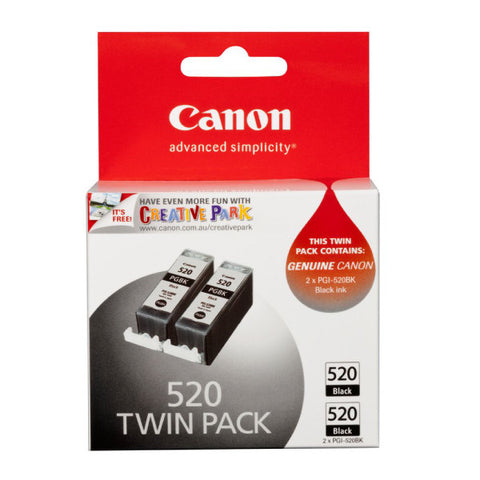 Canon 520 Ink Cartridge Twin Pack Black