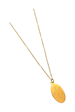 "18"" 'Keep the Good All Around You' Charm Necklace - Gold"
