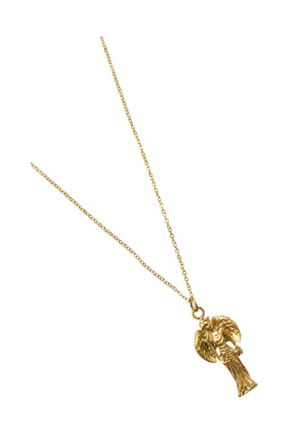 "18"" Angel Charm Necklace - Gold"