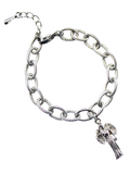 Angel Oval Link Charm Bracelet <br/> Stainless Steel