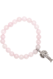 Rose Quartz Angel Charm Bracelet