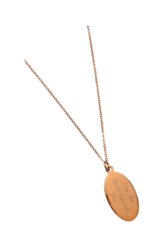 "18"" 'Keep the Good All Around You' Charm Necklace - Rose Gold"