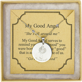 Angel Coin Necklace - Silver