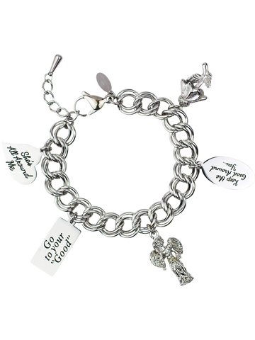Message Charm Bracelet <br/> Stainless Steel