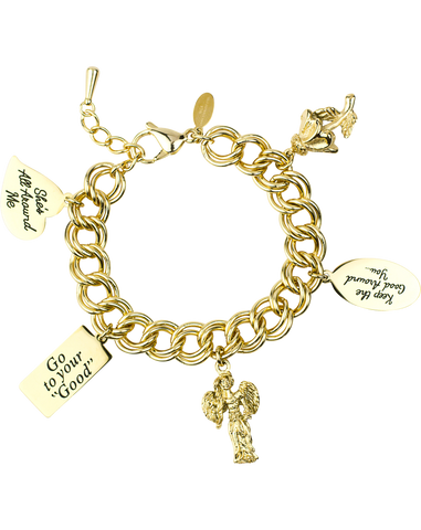 Message Charm Bracelet <br/> Gold