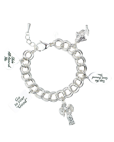 Message Charm Bracelet <br/> Sterling Silver