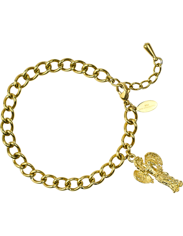 Angel Charm Bracelet <br/> Gold