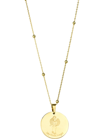 Angel Coin Necklace - Gold