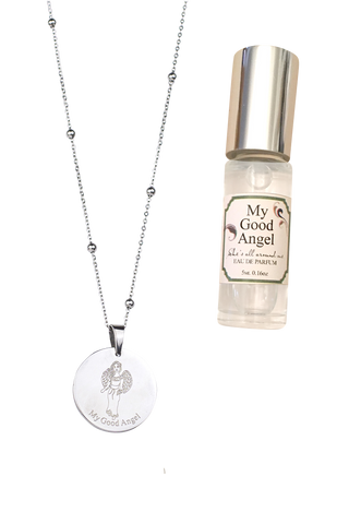 Angel Necklace, Perfume & Drawstring Bag Gift Set