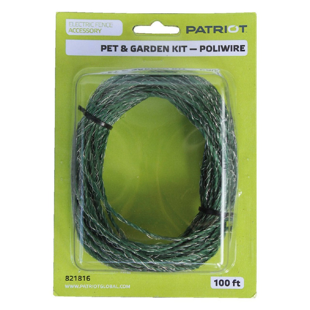 Patriot poliwire pet and garden green wire 100ft roll