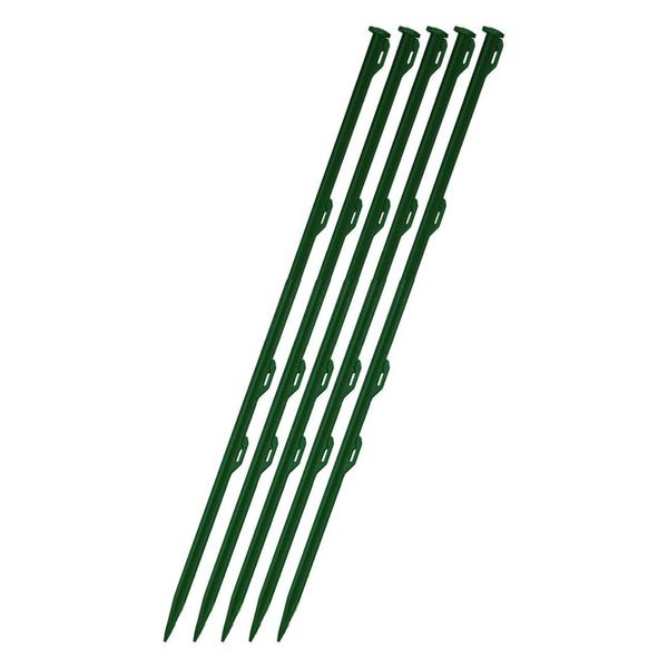 "Patriot 28 1/2"" tall pet and garden posts green, 5 pkg"