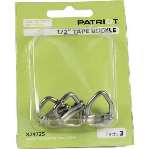 "Patriot 1/2"" tape to 1/2"" tape joiner buckle (3 pack)"