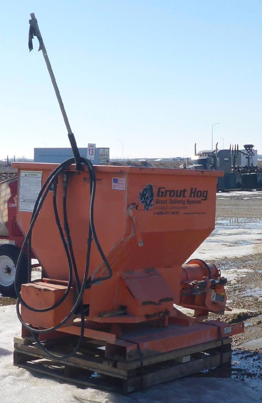 Used EZG GH75 Grout Hog