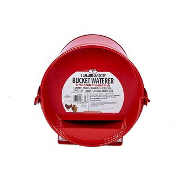 1 Gallon Bucket Waterer Red