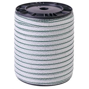 "Beaumont ""Classic"" White / Green Ribbon 20mm 200m"