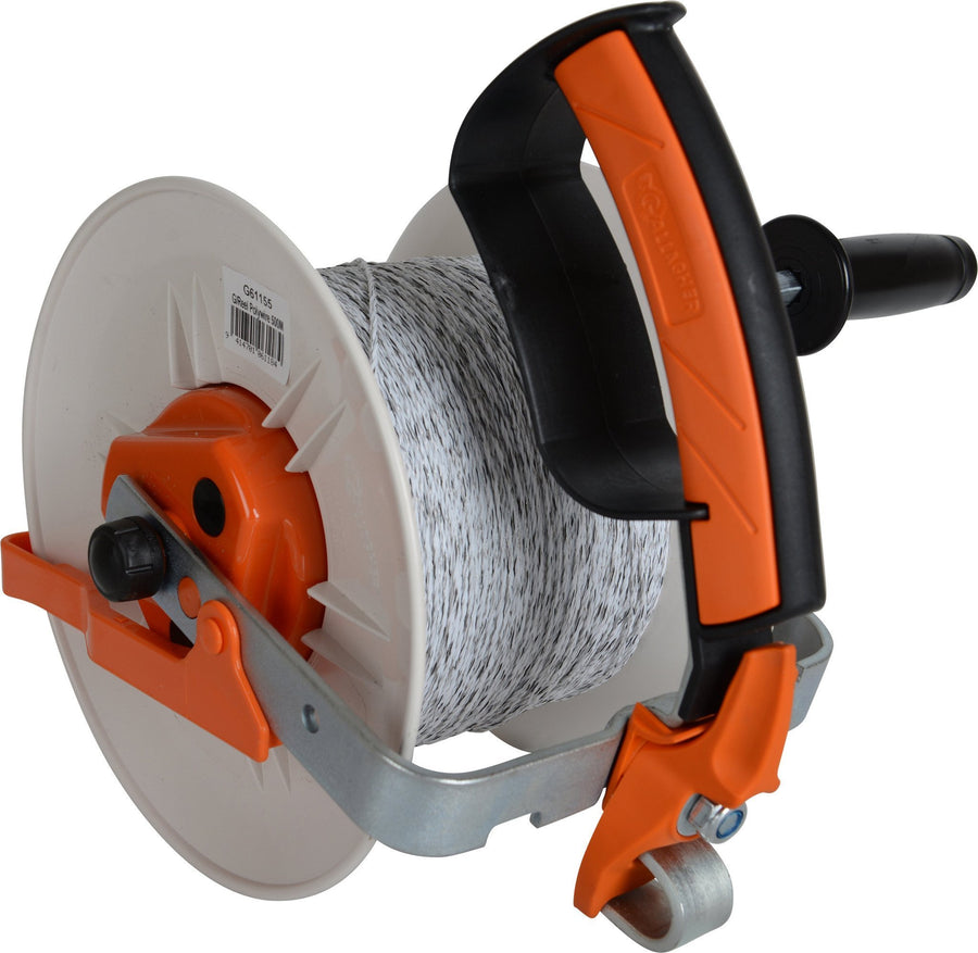 Gallagher Geared Reel Prewound 400m Turbo wire