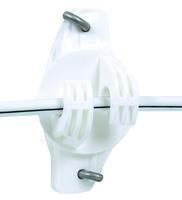 Gallagher Wide Jaw Wood Post Insulator 25/Bag White