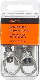 Galvanized Ground Rod Clamp 3/pack Packaging