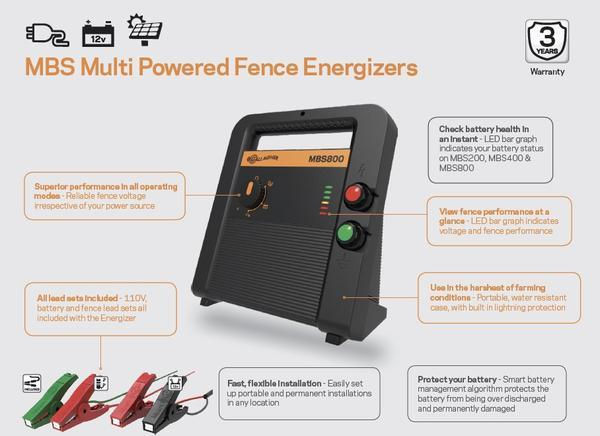 MBS400 Gallagher Fence Energizer Features